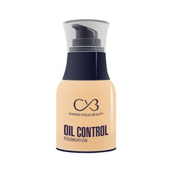 Cvb C33 Oil Control Foundation For Full Face Coverage Non-acnegenic Shine Control (03, 50g)