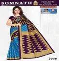 Somnath Multicolor 5.4 M Casual Wear Printed Cotton Saree