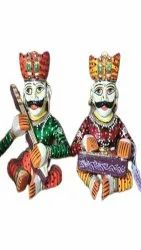 Multicolor Carving Wooden Musician Set, For Decoration, Size: 12 Inch