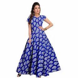 Gown Women Cotton Dress, Size: Free Size