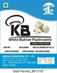 A Grade Kb White Button Mushrooms ( Pouch ), 10 Kg, 3.09 Gram