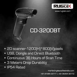 Rugtek Cd 3200 Bt Wireless 2d Scanner