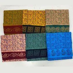Pure Cotton Party Wear Wax Print Madurai Sungudi Saree, Without Blouse, 5.4 m
