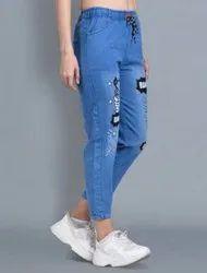 MK Skinny Ladies Printed Jeans, Waist Size: 32