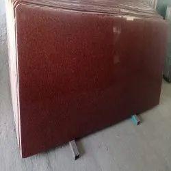 Polished K Red Granite Slab, Thickness: 12 mm