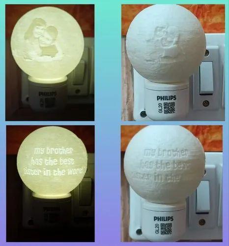 Customized Plug Moon Lamp (6cm) at Rs 550/piece | Customized Gift,  पर्सनलाइज़्ड गिफ्ट, पर्सनलाइज्ड गिफ्ट, पर्सनलाइज्ड उपहार - Bharat3DP,  Bengaluru | ID: 23129077991