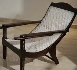 Wire Netted Wooden Easy Chair