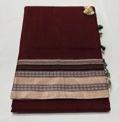 Casual Wear Mercerised cotton with Soft Silk saree, 6.20