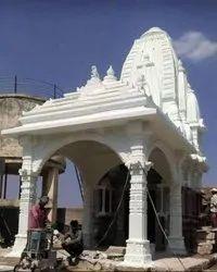 Stone Kalakariti Polished Finish Makrana White Marble Temple, Thickness: 16 mm, Size: 8feetX12feet