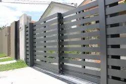 Mild Steel Telescopic Sliding Gate, For Industrial