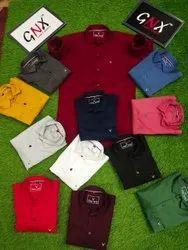 GNX Men Plain Cotton Shirt, Machine wash
