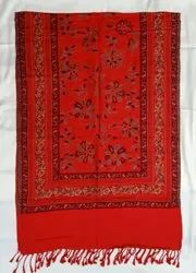 Casual Wear Red Printed Viscose Stole