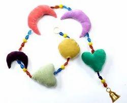 Beaded Garland, Heart Moon Garland Nursery, Decoration Decor Kid Room, Girl Nursery, Heart Bunting