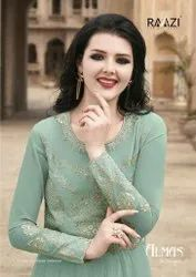 Raazi Almas Georgette Designer Anarkali SuitCatalog Collection