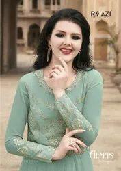 Raazi Almas Georgette Designer Anarkali Suit Catalog Collection