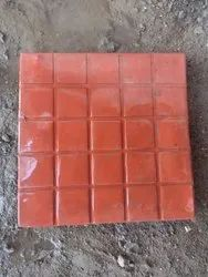 Ceramic Chequered Cement Concrete Tiles, For Flooring, Thickness: 6 - 8 mm
