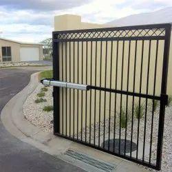 Black,Silver Mild Steel Motorised Gates, For Industrial