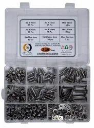 Stainless Steel Full Thread EPI Torque M6 SS Counter Sunk Bolts Nuts Assortment Kit Set, Grade: SS202