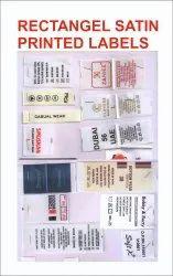 Rectangular Satin Printed Label