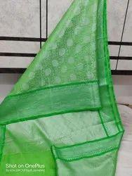 H.N 6.2m( With Blouse Piece) Silk Cotton Saree Zari Border