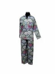 Block Print Cotton Night Suit