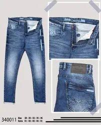 Color Hunt Printed Men Blue Denim Slim Fit Jeans