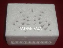 White Marble Jewelry Box For Home And Hotel Decorative Piece