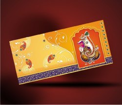 Printed Craft Paper Gifting Cash Envelope, For Weddings,Birthday