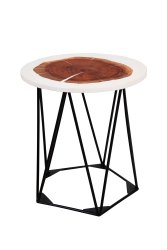 Round Epoxy Resin Tea Table