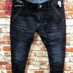 Men Blue Party Wear Denim Jeans, Machine wash