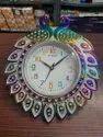 Beena Designer Plastic Wall Clock, For Decorative, Size: 40x33x5 Cm