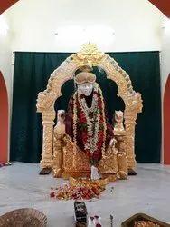 Golden (Gold Plated) Brass Sai Baba Thiruvachi Set, For Decoration