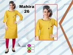 Rayon Party Wear Casual Ladies Kurtis, Wash Care: Machine Wash