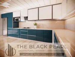 Italian Lacquer Glass Modular Kitchen