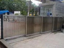 Manual Aluminium Telescopic Sliding Main Entrance Gate