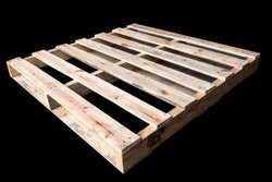 Rectangular Four Way Wooden Pallet, For Shipping, Capacity: 600 Kg