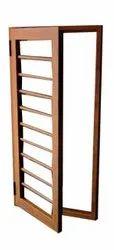 Brown Powder Coated Aluminium Folding Door, Thickness: 4 Mm