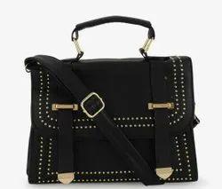 Luzoso India Ladies Velvet Handbag, Size: 28x14x8 Cm