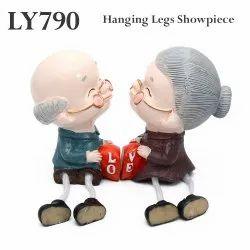 Hanging Legs Latku Showpiece LY790