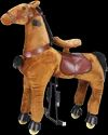 Brown And Black Plush Ride On Horse Toys
