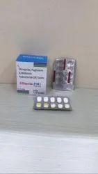 Glimipride 1 mg + Metformin 500 mg (sr)+ Pioglitazone 15 mg tab