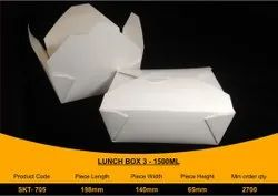 Disposable Paper Lunch Box 1500 ml