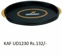 Oval Tray With Border (Black)