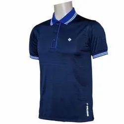 Printed Nylon Pesko Mens Dry Fit Polo T Shirt
