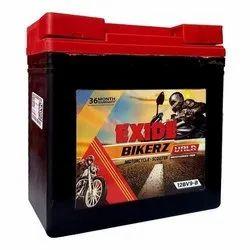 Capacity: 12V Exide Bike Battery 9LB