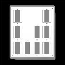 AIRFIT PVC White Switch Board Hippo 9 Way - 8042