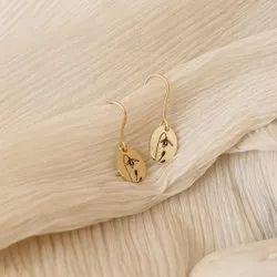 0.6 Inch Ladies Fancy Flower Earrings