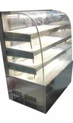 Stainless Steel and Glass Cold Display Counter, For Commercial