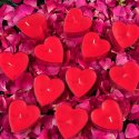 Heart Shape Acryclic Tealight Candle Rose Fragrance