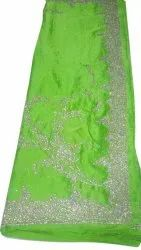 Border Party Wear Pure Satin Hand Work Fancy Saree, 6.3 M (With Blouse Piece)